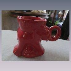 Frankoma Flame Red Political Republican Elephant Mug, Bush & Cheney
