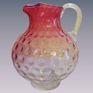Rubina To Cranberry Inverted Thumbprint Pitcher