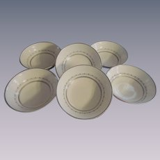 Six Royal Doulton Tiara H4915 Fine China Fruit/Dessert Bowls