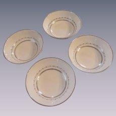 Four Royal Doulton Tiara H4915 Fine China Dessert/Fruit Bowls