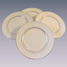 "Royal Doulton Tiara H4915, 4 Fine China 10 5/8"" Dinner Plates"
