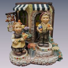 Hummel Blooming Delights Rotating Music Box with Figures, Special Limited Edition