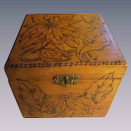Flemish Art Christmas Poinsettia Wood Box