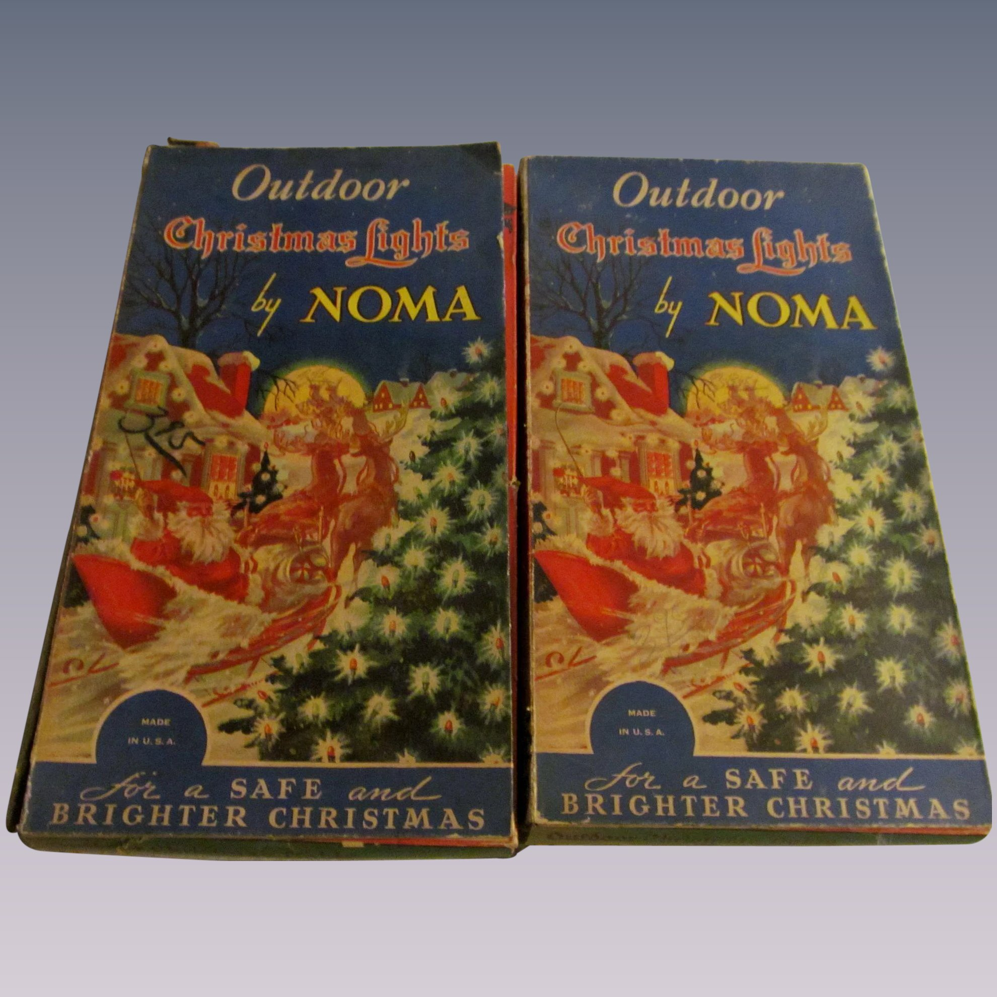 Noma Christmas Outdoor Lights, 2 Boxes, Flame Bulbs, Tested, 4 Extra ...