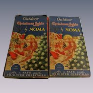 Noma Christmas Outdoor Lights, 2 Boxes, Flame Bulbs, Tested, 4 Extra