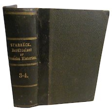1869 Berattelser ur Svenske Historien, History of Sweden by Carl Georg Starback, 3=4.