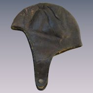 Leather Aviator Cap Hat, Berlin Tanning & Mfg Co