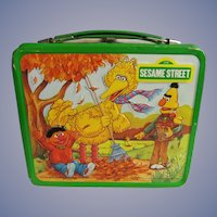 Aladdin Muppets 1983 Sesame St Lunch Box, Bert, Ernie, Big Bird