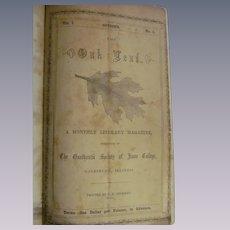 1856 Knox College, Galesburg Oak Leaf Volume 1, Number 1-8