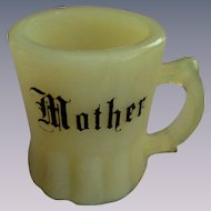 "Custard Mini 2"" Mother Cup Mug Toothpick Holder"