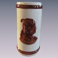 Sleepy Eye, Cattail Vase, Western Stoneware 1997 Limited Edition