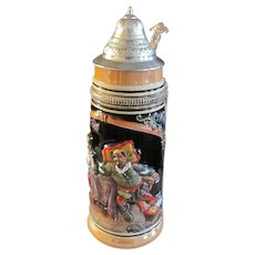 "West Germany 11.5"" One Liter Beer Stein"