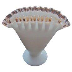 Fenton Rose Crest Fan Vase, 1946-48