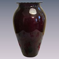 "Anchor Hocking Royal Ruby 9"" Vase with Lable"