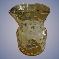Canary Yellow Coin Spot Enameled Vase
