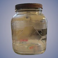 Hazel Atlas Glass 1950's Canister Jar