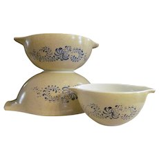 Pyrex Homestead Cinderella 3pc Mixing Bowls #441, 443, 444