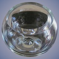 "Mid Century Modern Paperweight  8.25"" Glass Bowl"