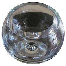 "Mid Century Modern Paperweight  8.25"" Glass Bowl"