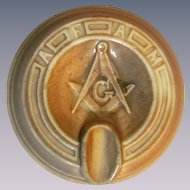 Monmouth Western Stoneware Freemasons Ashtray