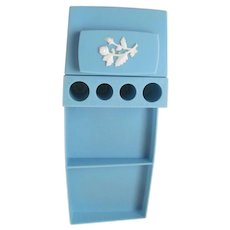 Turquoise Plastic Lipstick Holder and Tray