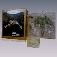 1994 Keepsake Star Trek Klingon Bird of Prey Ornament, Flicker Lights