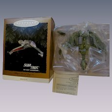 1994 Keepsake Star Trek Klingon Bird of Prey Ornament, Flicker Lights