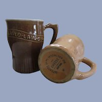 Happy New Year Advertising Stoneware Mugs, Dutchess Food Specialties Co