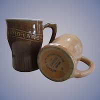 Happy New Year Advertising Stoneware Mugs, Dutchess Food Specialties Co