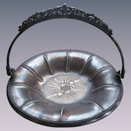 Forbes Quad Silver Plate Handled Footed Basket