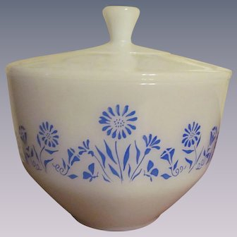 Federal Covered Casserole Dish,Blue Flowers, Lady Michelle Pattern