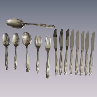 49pc Rogers Gaiety Silverplate Flatware