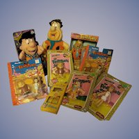 Fred Flintstone Hanna Barbera 9pc Collection, Bank, Bendems, Wind-up: Plush, Figures, Spoon/Fork