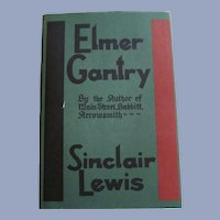 1927 Elmer Gantry by Sinclair Lewis, Dust Jacket, Harcourt Brace and Company