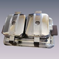 Chrome Manning-Bowman Double Waffle Iron