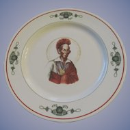 Indian Blackhawk Hotel Restaurant Plate, Syracuse China