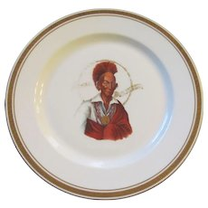 Indian Chief Blackhawk Hotel Restuarant Plate, Syracuse China