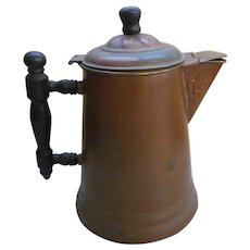 Copper Teapot Coffee pot, Wood Handle,Wood Lid Knob