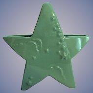 Green Abingdon Pottery Star Planter Vase