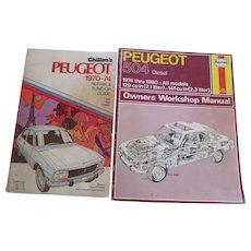 2 Peugeot Repair & Manitenance Manuals, 1974-1980