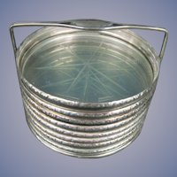 8 Sterling Silver Coasters with Caddy Tray