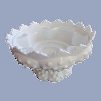 Fenton Hobnail MG Candle Holder