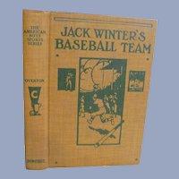1919 Jack Winters Baseball Team, Dust Jacket by Mark Overton, Donohue & Company