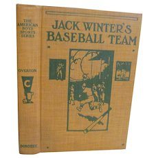 1919 Jack Winters Baseball Team, Dust Jacket by Mark Overton, Donohue & Company