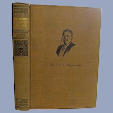1910 Teddy Theodore Roosevelt The Winning of the West, Homeward Bound Edition,Volume 4,  Review of Reviews Company