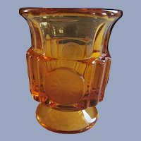 Fostoria Amber Coin Glass Cigarette Holder Urn