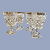 4 Imperial Cape Cod 8oz Water Tea Goblets
