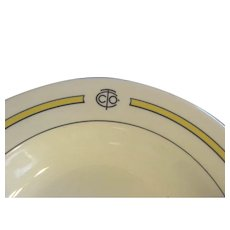 "Restaurant Ware Shenango China Advertising Logo 9"" Soup Bowl"
