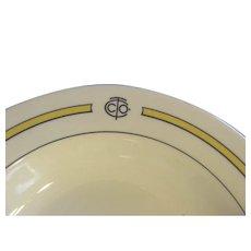 "Restaurant Ware Shenango China Advertising Logo 9"" Soup Bowl"