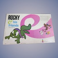 1961 Rocky and His Friends Colorform Set